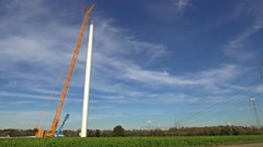 Wind power generator construction  time lapse - stock footage