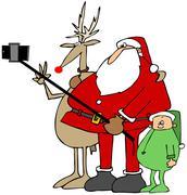 Santa's new selfie stick Piirros