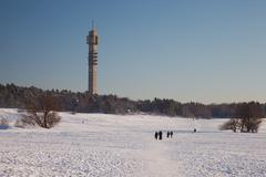Stockholm TV Tower - stock photo