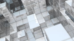 Reflective Cube Walls Angle - stock footage