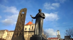 Monument to Taras Shevchenko Stock Footage