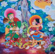 Chinese mural painting art Stock Photos