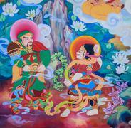 Chinese mural painting art - stock photo