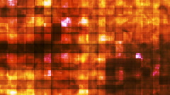 Twinkling Hi-Tech Squared Smoke Patterns, Golden, Abstract, Loopable, HD Stock Footage