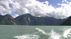 Boatride on the fjords of British Columbia. Stock Footage