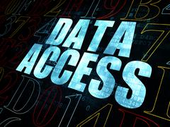 Stock Illustration of Information concept: Data Access on Digital background