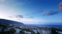 4K sunset time lapse of Saint-Denis, La Réunion Stock Footage