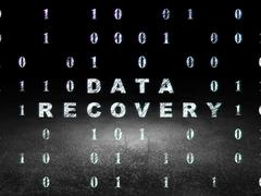 Stock Illustration of Information concept: Data Recovery in grunge dark room
