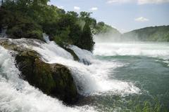 Rhine Falls (Rheinfall) at Schaffhausen in Switzerland - stock photo
