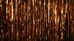 Shimmering golden background Stock Footage