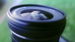 Camera Lens Macro Shot  Stock Footage