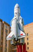 Small copy of space shuttle Buran in sunny day Kuvituskuvat