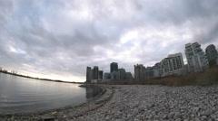 Humber Bay Beach Toronto, Ontario. Stock Footage