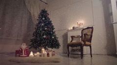 Christmas living room. Stock Footage