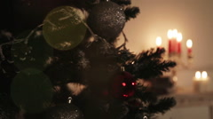 Room Christmas Interior Decoration. Stock Footage
