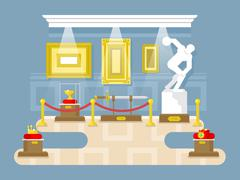 Museum flat design Stock Illustration
