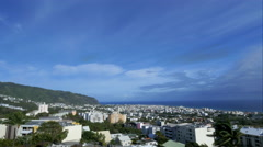 4K timelapse of Saint-Denis - la Réunion Stock Footage
