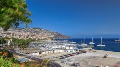 Sea port Funchal, Madeira island, Portugal timelapse Stock Footage