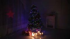 Christmas living room. - stock footage