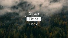 Stock After Effects of Glitch Style Titles