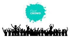 People concert crowd Stock Illustration