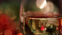 Bouquet Lights with champagne glass. - stock footage
