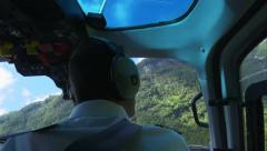 4K helicopter trip on a tropical island Stock Footage