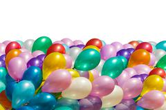 Multi-colored balloons isolated on white Stock Photos