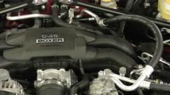 Subaru automobile engine closeup 4K Stock Footage