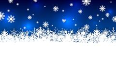 Stock Illustration of Blue abstract winter season background with snowflakes