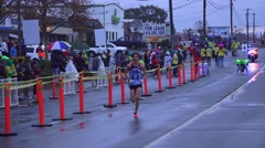 Stock Video Footage of California Marathon 2015, editorial event, disabled racer