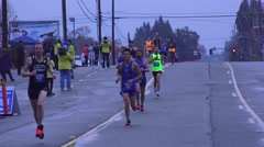 Stock Video Footage of California Marathon 2015, editorial event, lead woman