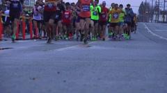 California Marathon 2015, editorial event,  stampede Stock Footage