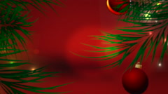 Red Christmas Tree Background Stock Footage