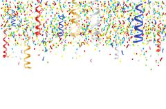 Flying multicolored confetti - party background Stock Illustration
