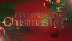 Red Christmas Tree and Ornament - stock footage