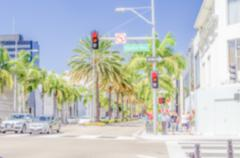 Defocused background of Rodeo Drive shopping district in Beverly Hills Kuvituskuvat