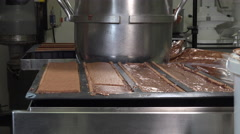 Preparation of a Yule log, pear and praline Stock Footage