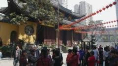 Jade Buddha Temple in Shanghai - stock footage