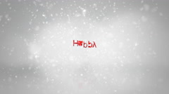 Happy Holidays Snowy background Stock Footage