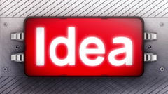 Signboard Stock Footage