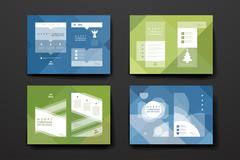 Stock Illustration of Set of brochure, poster design templates in Christmas style