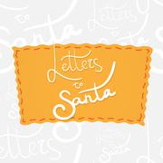 Holiday greetings lettering Stock Illustration