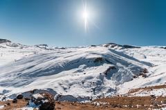 Stock Photo of Winter mountains in Gusar region of Azerbaijan