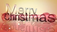 Merry Christmas text on seasonal background - stock footage