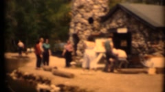 1951 ,Families at a dude ranch and the plan is boating Stock Footage