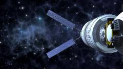 Space probe satellite in deep space Arkistovideo