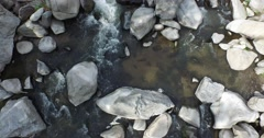 Arial shot above river looking straight down - stock footage