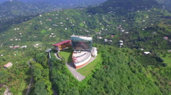 Aerial view of ropeway Argo in Batumi - stock footage