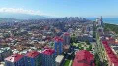 Aerial view of Batumi Stock Footage